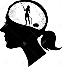 Woman clearing mind